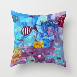 Reflexes Throw Pillow