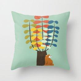 Shady Tree Throw Pillow
