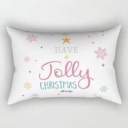 Have A Jolly Christmas Star Mistletoe Rectangular Pillow