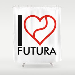 I love Futura Shower Curtain