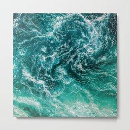 Ocean Waves Foam [v.2021] Metal Print