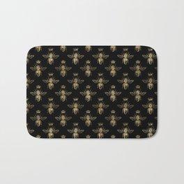 Black & Gold Queen Bee Pattern Bath Mat