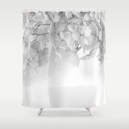 Hydrangea Still Life in Black and White #decor #society6 #buyart Shower Curtain