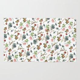 Antique Floral Pattern Rug