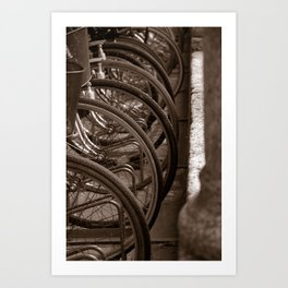 Bycicles Art Print