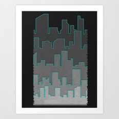 The Turquoise Outline Art Print