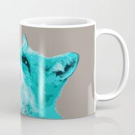 FOX, BLUE FOX, FOX, BLUE FOX, FOX FACE, FOX IN BLUE, WINTER FOX, LITTLE FOX, FOX IN SNOW Coffee Mug