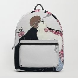 "Art Deco 1920's ""Rose Cloak"" Illustration Backpack"