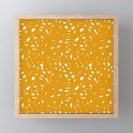 Yellow Freeform Framed Mini Art Print