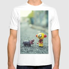 HI!! I told you i don't want a pet!! MEDIUM White Mens Fitted Tee