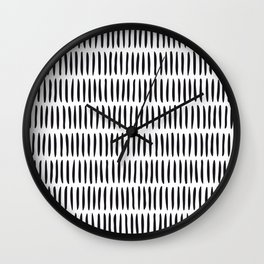 Classy Handpainted Stripes Pattern, Scandinavian Design Wall Clock