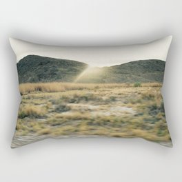 Sun Rays Over Death Valley Plant Life Spring Bloom 2016 Rectangular Pillow