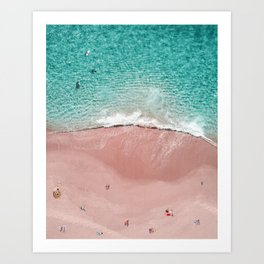 Pink Vacation Art Print