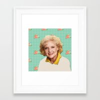 golden girls Framed Art Prints featuring Golden Girls - Rose by courtneeeee