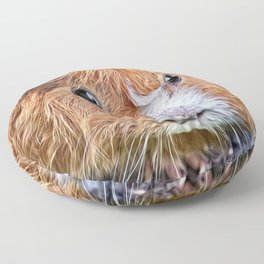 Painted Guinea Pig 5 Floor Pillow