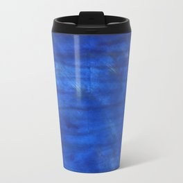 Denim Blue abstract watercolor background Travel Mug