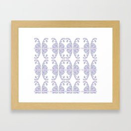 Blue Easter bunny and its eggs Framed Art Print