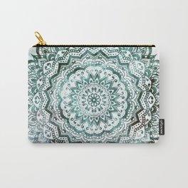 Emerald Jewel Mandala Carry-All Pouch