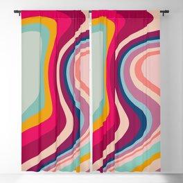 Boho Fluid Abstract Blackout Curtain