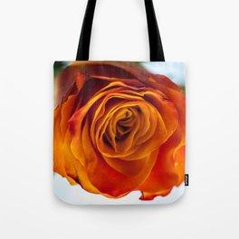 Firery Orange Rose Bloom Tote Bag