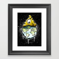 shit rules the world Framed Art Print