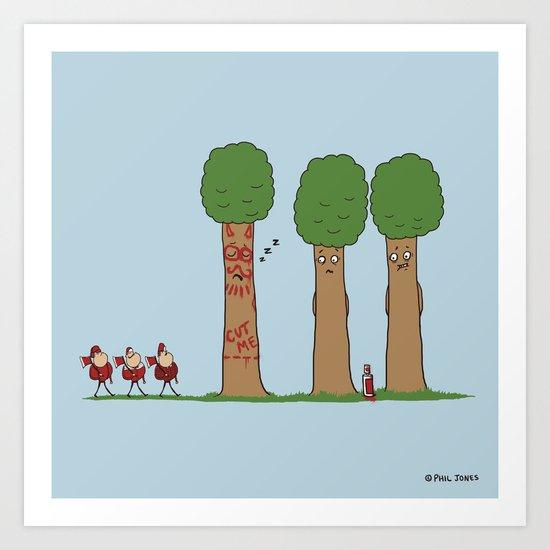 Tree Prank Gone Wrong Art Print