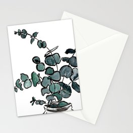 Watercolor Eucalyptus in a Mason Jar Stationery Cards