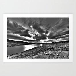 HDR Sunrise - Kamloops, BC Art Print