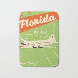 Florida By air - vintage travel poster Bath Mat