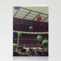 coldplay Stationery Cards featuring Coldplay at Wembley by Efua Boakye