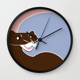 Save The European Mink! (FIEB) Wall Clock
