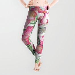 Hibiscus + Hummingbirds Pink Leggings