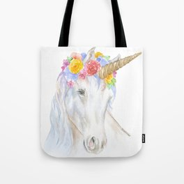 Unicorn Watercolor Painting Tote Bag