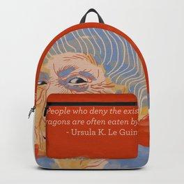 Ursula K. Le Guin portrait + quote Backpack