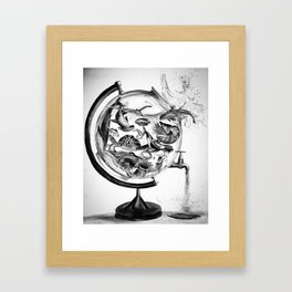 The Spill Framed Art Print