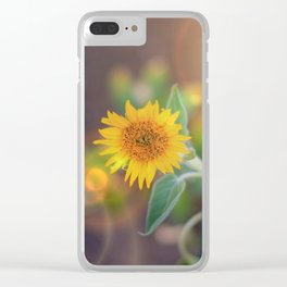Summer Sunflower Clear iPhone Case