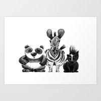 B/W Squad Art Print