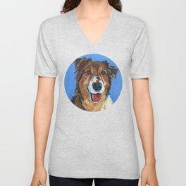 Myles the Dog Unisex V-Neck