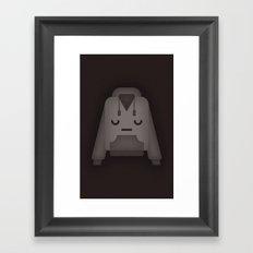 Sad Hoodie Framed Art Print
