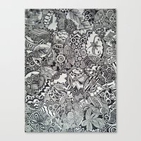 zentangle Canvas Prints featuring Zentangle by NicoleCorbelle