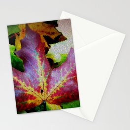 Autumn Leaves - Colored Glass Stationery Cards