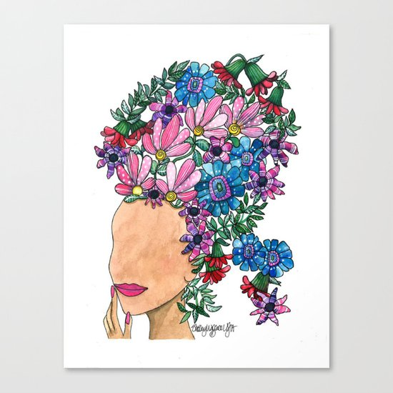 Exotic Beauty Canvas Print