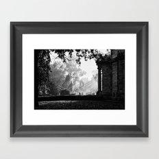 Morning at greenlawn Framed Art Print