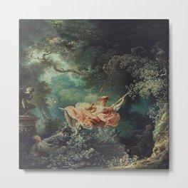 Jean-Honore Fragonard's The Swing Metal Print
