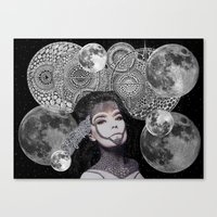bjork Canvas Prints featuring Bjork by Luna Portnoi