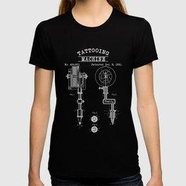 Retro Tattoo Machine   Tattoo Artist T-shirt