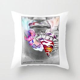 Coloured Shaving Cream - Beard Throw Pillow