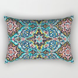 Traditional ceramic tile design Portugal Terrazzo Blobs Rectangular Pillow