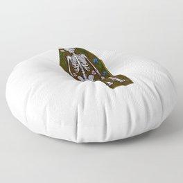 Skeleton Coffin Floor Pillow
