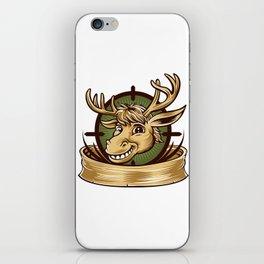 Cartoon Deer mascot  iPhone Skin